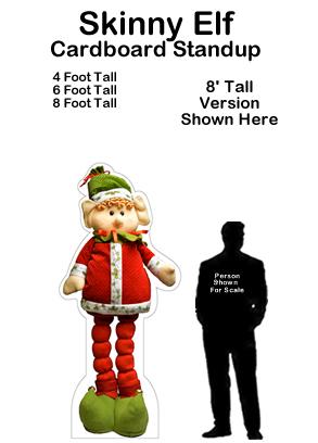 Skinny Elf Cardboard Cutout Standup Prop