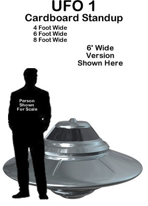 UFO 1 Cardboard Cutout Prop