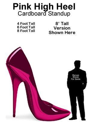 Pink High Heel Cardboard Cutout Standup Prop