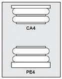 CA4-PE4 - Architectural Foam Shape - Capital & Pedestal