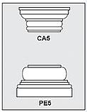 CA5-PE5 - Architectural Foam Shape - Capital & Pedestal