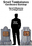 Tombstone Small Set Cutout Standup Prop