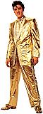 Elvis Gold Tuxedo (Talking) - Elvis Cardboard Cutout Standup Prop
