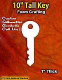 10 Inch Key Foam Shape Silhouette