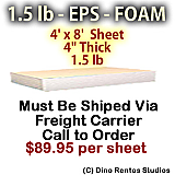 EPS Foam Sheet - 1.5 lb Density - 48x96x4