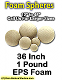 EPS Foam  Sphere 36 Inch - 1 lb Density