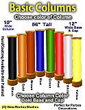 "56"" Tall Foam Basic Column"