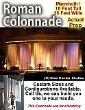 Custom Roman Colonnade Foam Structure