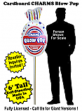 Charms Blow Pop Cardboard Cutout Standup Prop - Self Standing