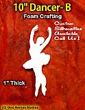 10 Inch Dancer B Foam Shape Silhouette