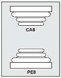 CA8-PE8 - Architectural Foam Shape - Capital & Pedestal