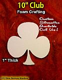 10 Inch Club Foam Shape Silhouette