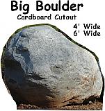 Boulder Cardboard Cutout Standup Prop