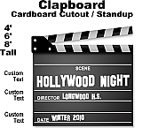 Hollywood Clapboard Cardboard Cutout Standup Prop