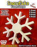 Snowflake 2 Inch Thick Foam Prop