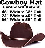 Cowboy Hat Cardboard Cutout Standup Prop