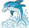 Dolphin-1 Cardboard Cutout Standup Prop