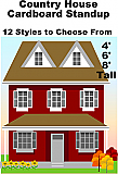 Country House Village Cardboard Cutout Standup Prop