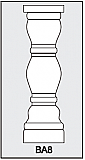 BA8 - Architectural Foam Shape - Baluster