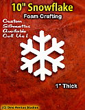 10 Inch Snowflake  Foam Shape Silhouette