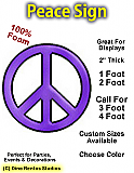 Big Foam Peace Sign Prop