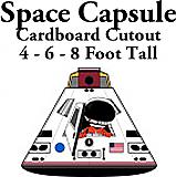 Space Capsule Cardboard Cutout Standup Prop
