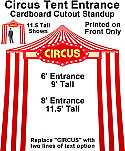 Circus Tent Entrance Cardboard Cutout Standup Prop