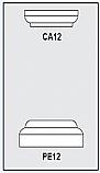 CA12-PE12 - Architectural Foam Shape - Capital & Pedestal