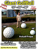 24 Inch Golfball Foam Prop - Hard Coated