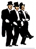 Three Stooges Tuxedo - The Three Stooges Cardboard Cutout Standup Prop