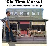 Old Time Market Cardboard Cutout Standup Prop