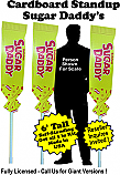 Sugar Daddy Cardboard Cutout Standup Prop - Self Standing - Set of 3