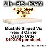 EPS Foam Sheet - 2 lb Density - 48x96x6