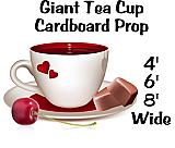 Giant Tea Cup Cardboard Cutout Standup Prop