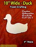 10 Inch Duck Foam Shape Silhouette