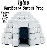 Igloo Cardboard Cutout Standup Prop