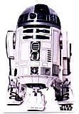 R2-D2 Cardboard Cutotu Standup Prop