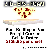 EPS Foam Sheet - 2 lb Density - 48x96x4