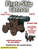 Pirate Ship Cannon Foam Prop