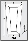 KE1 - Architectural Foam Shape - Keystone