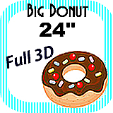 Big/Giant Donut Foam Prop 24""