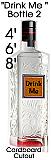Drink Me Bottle 2 Cardboard Cutout Standup Prop