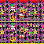 "Cardboard Roll - Mardi Gras - 48"" x 50'"