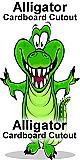 Alligator Cartoon Cardboard Cutout Standup Prop
