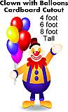 Clown with Balloons Cardboard Cutout Standup Prop