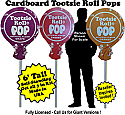 Tootsie Roll Pops Cardboard Cutout Standup Prop - Self Standing - Set of 3