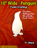 10 Inch Penguin Foam Shape Silhouette
